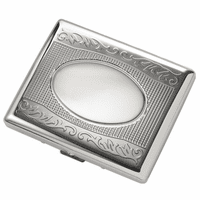 Double Sided Engravable Cigarette Case for Kings and 100s