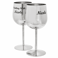 """Drinking With"" Dual Wine Glass Set"