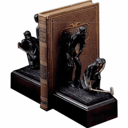 Dual Golfer Bookends