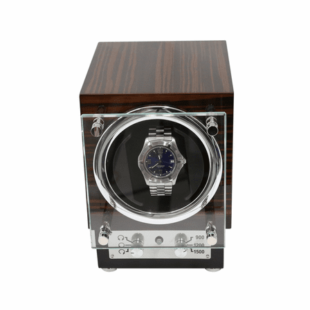 Ebony Burl Wood Single Watch Winder