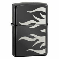 Ebony Flames Zippo Lighter - Discontinued