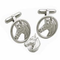 Edwardian Horse Head Cufflinks & Studs Set