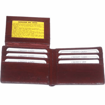 Eel Skin Collection L Shaped Bifold Wallet