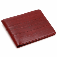 Eel Skin Collection Slim Bifold Wallet
