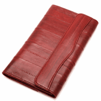 Eel Skin Collection Snap Closing Checkbook Wallet & Organizer