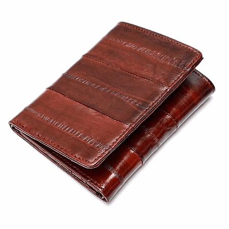 Eel Skin Collection Trifold Wallet