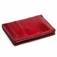 Eel Skin L Shape Bifold Wallet & Card Holder