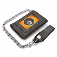 Eight Ball Trifold Wallet with Chain - Discontinued