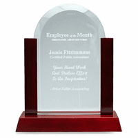 Employee Of The Month Jade Dome & Rosewood Award