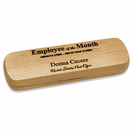 Employee Of The Month Maple Dual Pen Set