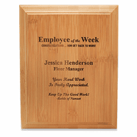 Employee Of The Week Bamboo Wall Plaque