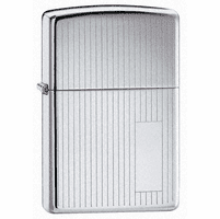 Engine Turned High Polish Chrome Engravable Zippo Lighter