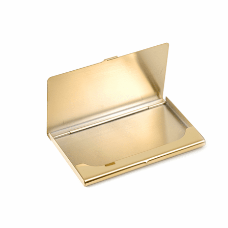 Engraved Brass Business Card Case
