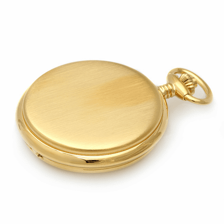 Engraved Gold Charles Hubert Quartz Pocket Watch & Chain #3410