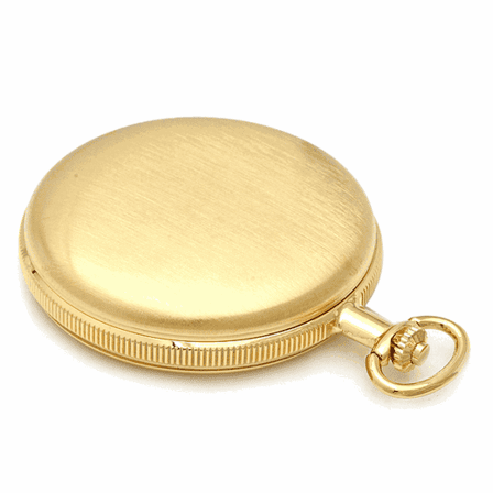 Engraved Gold Mechanical Charles Hubert Pocket Watch & Chain #3595
