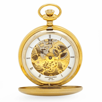 Engraved Gold Mechanical Charles Hubert Pocket Watch & Chain #3780-G