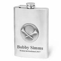 Engraved Golfer's Hip Flask - Discontinued