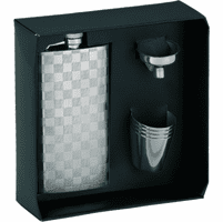Engraved Hip Flask & Shot Cups Gift Set