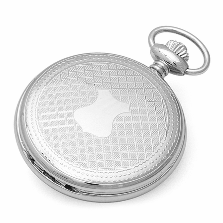 Engraved Quartz Charles Hubert Pocket Watch For Men With Chain #3543