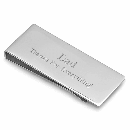 Engraved Streamline Money Clip