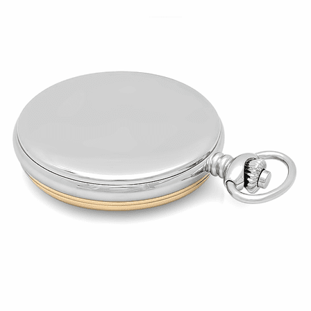 Engraved Two Tone Charles Hubert Pocket Watch and Chain #3553-T