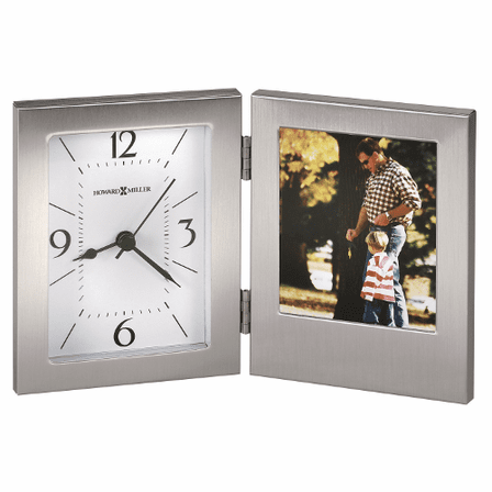 Envision Desk Clock With Picture Frame By Howard Miller Executive