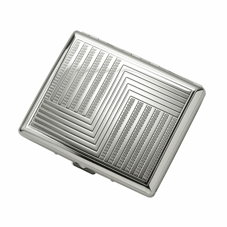 "Etched ""S"" Design Double Sided Design Cigarette Case for Kings and 100s"