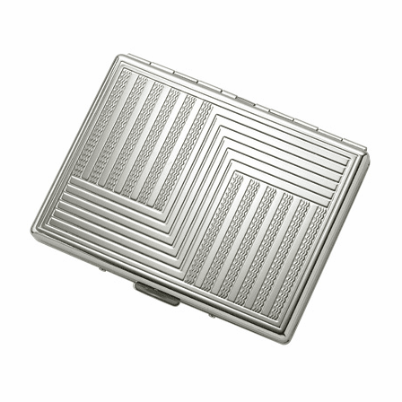 """Etched """"S"""" Design Single Sided Design Cigarette Case for Kings and 100s"""