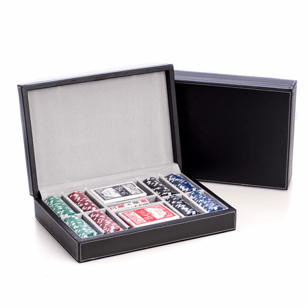Executive 300 Chip Poker Set with Leather Case