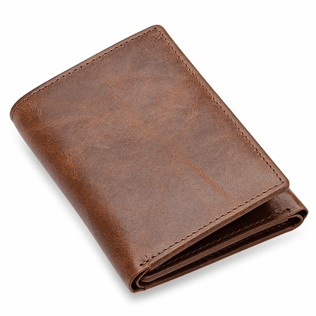 Executive Collection RFID Blocking Trifold Wallet with Center ID Window