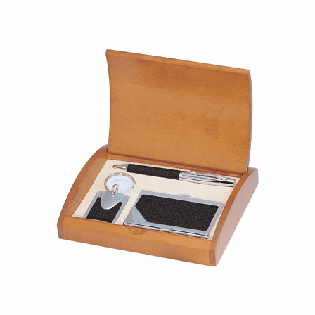Executive Leather Pen, Card Case and Keychain Set - Free Personalization