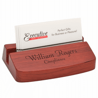Executive Rosewood Business Card Holder