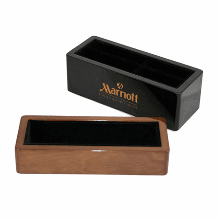Executive Stackable Wooden Cell Phone and Pen Holder