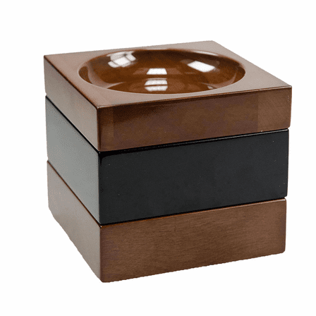 Executive Stackable Wooden Paper Clip and Pin Tray