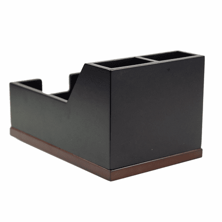 Executive Wooden Pen and Notepad Holder