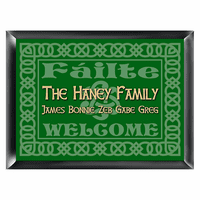 Failte Green Irish Family Sign - Free Personalization