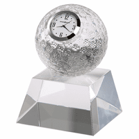 Fairway Crystal Golf Ball Clock by Howard Miller
