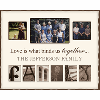 Family Alphabet Photo Frame