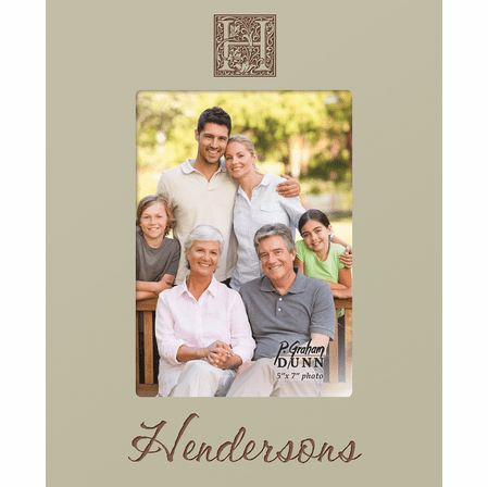 """Family Initial Personalized 5"""" x 7"""" Picture Frame"""