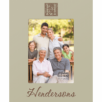 "Family Initial Personalized 5"" x 7"" Picture Frame - Discontinued"