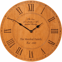 Family Love Personalized  Wall Clock