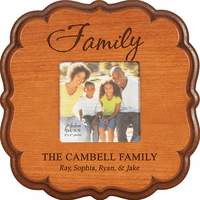 "Family Personalized  4"" x 6"" Picture Frame"