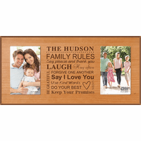 Family Rules Personalized Dual Picture Frame