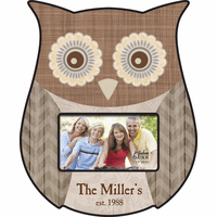 Family Theme Personalized Owl Picture Frame - Discontinued