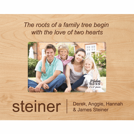 "Family Tree Personalized 4"" x 6"" Picture Frame"