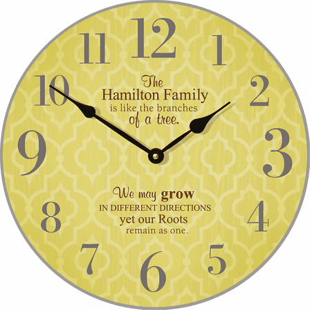 Family Tree Personalized Wall Clock