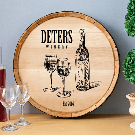 Family Winery Personalized Wine Barrel Sign - Discontinued