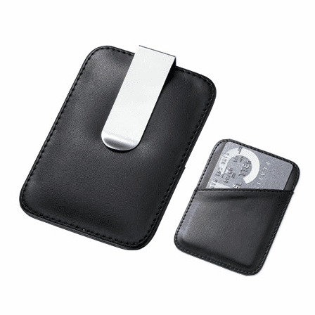 faux leather engraved money clip card holder - Money Clip And Card Holder