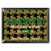 Field Of Clovers Pub Sign - Free Personalization