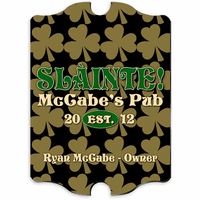 Field Of Clovers Vintage Pub Sign - Free Personalization